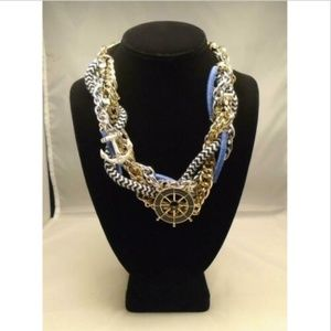 LYDELL NYC NAUTICAL ANCHOR STATEMENT NECKLACE